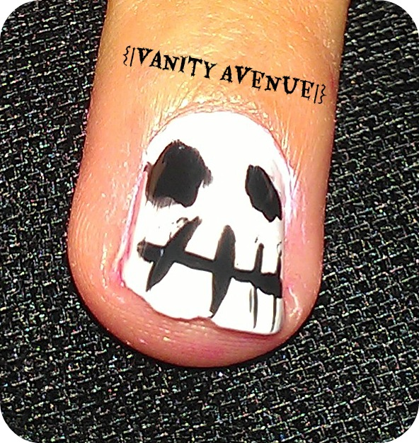 Halloween Nails-Jack Skellington | {Vanity.Avenue}